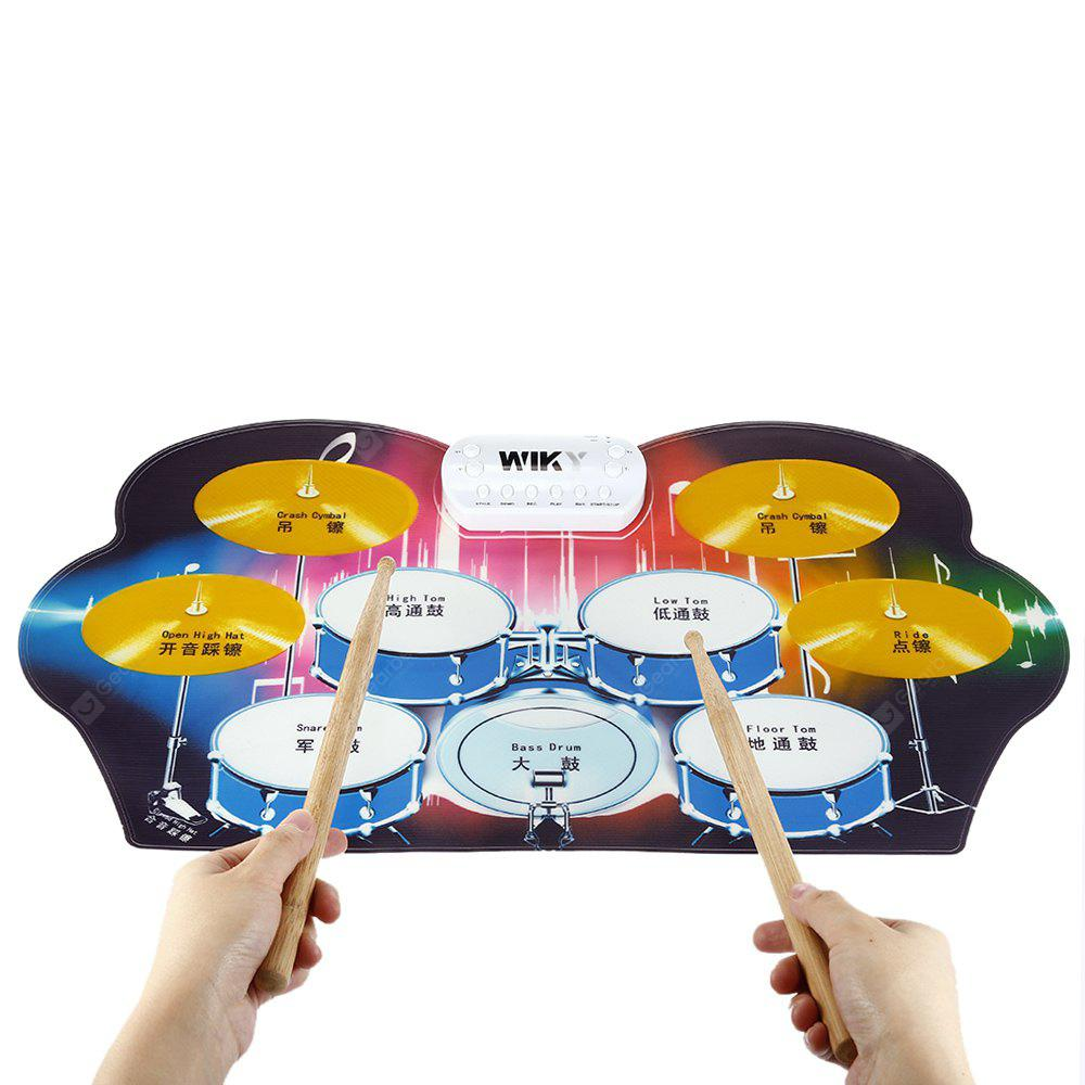 Foldable Roll-up Practical Electronic Drum Kit for Kids