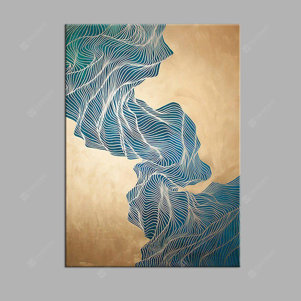 Modern Abstract Mountain Print