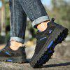 Men Outdoor Mesh Durable Hiking Athletic Shoes - BLACK