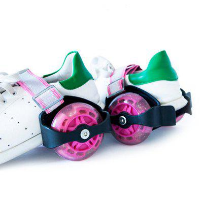Pair of Adjustable Flashing Roller Skates Wheels