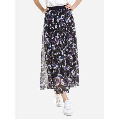 Wide Waistband Maxi Skirt
