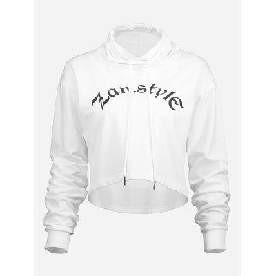 Drawstring Hoodies Cropped