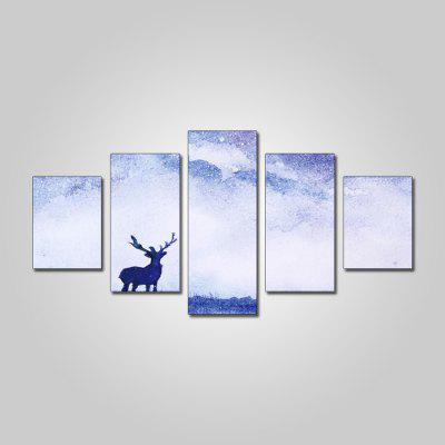 God Painting 2241 Canvas Prints Antelope Wall Art 5PCS