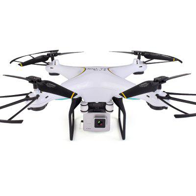 SG600 RC Drone Follow Me Mode / WiFi FPV / Altitude HoldRC Quadcopters<br>SG600 RC Drone Follow Me Mode / WiFi FPV / Altitude Hold<br><br>Battery: 3.7V 750mAh LiPo<br>Built-in Gyro: 6 Axis Gyro<br>Channel: 4-Channels<br>Charging Time.: 50 - 70mins<br>Compatible with Additional Gimbal: No<br>Features: WiFi APP Control, WiFi FPV<br>Flying Time: 6-8mins<br>Functions: WiFi Connection, Up/down, Turn left/right, One Key Taking Off, One Key Landing, One Key Automatic Return, 3D stunt, Automatic Return, Camera, Continuous Shooting, Forward/backward, FPV, Headless Mode, Height Holding, Hover, With light<br>Kit Types: RTF<br>Level: Beginner Level<br>Material: ABS/PS<br>Night Flight: Yes<br>Package Contents: 1 x RC Drone ( Battery Included ), 1 x Transmitter, 1 x English Manual, 1 x USB Cable, 4 x Spare Propeller, 4 x Propeller Protector<br>Package size (L x W x H): 23.70 x 20.30 x 7.10 cm / 9.33 x 7.99 x 2.8 inches<br>Package weight: 0.5500 kg<br>Product size (L x W x H): 37.00 x 39.00 x 11.00 cm / 14.57 x 15.35 x 4.33 inches<br>Product weight: 0.1305 kg<br>Radio Mode: Mode 2 (Left-hand Throttle),WiFi APP<br>Remote Control: 2.4GHz Wireless Remote Control,WiFi Remote Control<br>Sensor: Gyroscope<br>Size: Medium<br>Transmitter Power: 2 x 1.5V AA battery(not included)<br>Type: Quadcopter