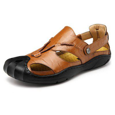 Men Unique Outdoor Wrapped Toe Hollow Sandals