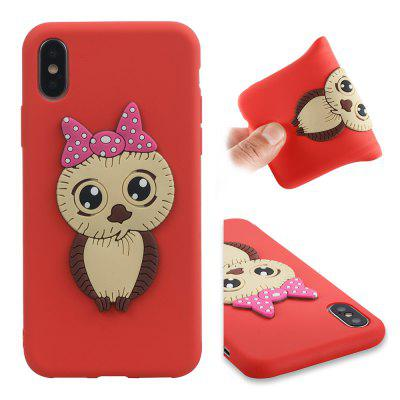 Dirt-proof Owl Pattern Back Cover for iPhone X
