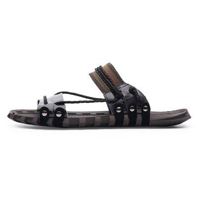 Men Stylish Anti-slip Leather Street SlippersMens Slippers<br>Men Stylish Anti-slip Leather Street Slippers<br><br>Contents: 1 x Pair of Shoes, 1 x Box<br>Function: Slip Resistant<br>Materials: Rubber, Leather<br>Occasion: Shopping, Daily, Casual, Beach<br>Outsole Material: Rubber<br>Package Size ( L x W x H ): 30.00 x 20.00 x 10.00 cm / 11.81 x 7.87 x 3.94 inches<br>Package weight: 0.6500 kg<br>Product weight: 0.6000 kg<br>Seasons: Summer<br>Style: Leisure, Fashion, Comfortable<br>Type: Slippers<br>Upper Material: Leather