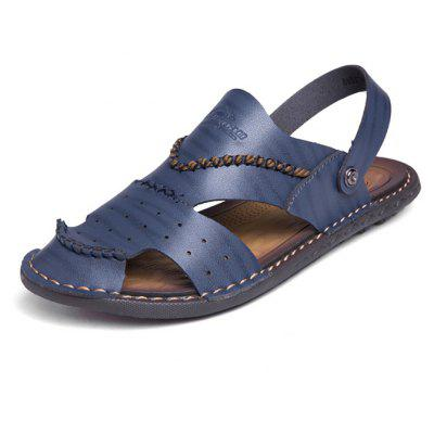 Men Summer Leisure Dual-use PU Leather Sandals