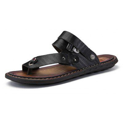 Men Trendy Summer Dual-use PU Leather Sandals