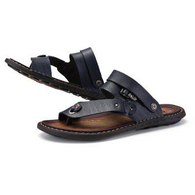Men Trendy Summer Dual-use PU Leather SandalsMens Slippers<br>Men Trendy Summer Dual-use PU Leather Sandals<br><br>Contents: 1 x Pair of Sandals, 1 x Box<br>Function: Slip Resistant<br>Materials: Rubber, PU<br>Occasion: Shopping, Daily, Casual, Beach<br>Outsole Material: Rubber<br>Package Size ( L x W x H ): 33.00 x 22.00 x 11.00 cm / 12.99 x 8.66 x 4.33 inches<br>Package weight: 0.6500 kg<br>Product weight: 0.5000 kg<br>Seasons: Summer<br>Style: Leisure, Fashion, Comfortable<br>Type: Sandals<br>Upper Material: PU