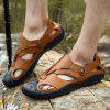 Men Unique Outdoor Wrapped Toe Hollow Sandals - BROWN