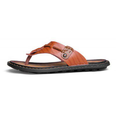 Men Stylish PU Leather Flip-flops SlipperMens Slippers<br>Men Stylish PU Leather Flip-flops Slipper<br><br>Contents: 1 x Pair of Shoes, 1 x Box<br>Function: Slip Resistant<br>Materials: Rubber, PU<br>Occasion: Shopping, Rainy Day, Daily, Casual, Beach<br>Outsole Material: Rubber<br>Package Size ( L x W x H ): 33.00 x 22.00 x 11.00 cm / 12.99 x 8.66 x 4.33 inches<br>Package weight: 0.6500 kg<br>Product weight: 0.5000 kg<br>Seasons: Spring,Summer<br>Style: Leisure, Fashion, Comfortable<br>Type: Slippers<br>Upper Material: PU