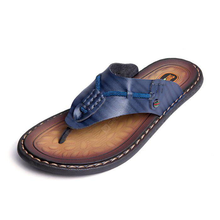 Men Stylish PU Leather Flip-flops Slipper