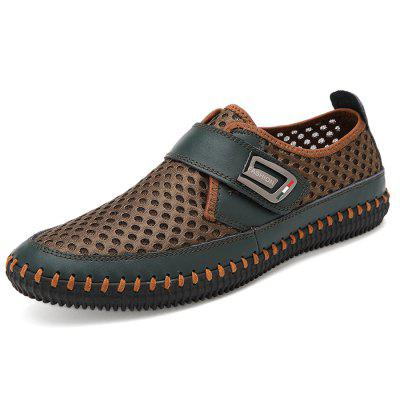 Men Business Soft Hollow Casual Flat Loafers