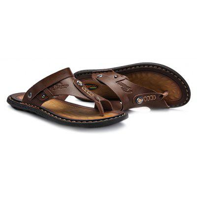 Men Summer Casual Dual-use PU Leather SandalsMens Sandals<br>Men Summer Casual Dual-use PU Leather Sandals<br><br>Contents: 1 x Pair of Sandals, 1 x Box<br>Function: Slip Resistant<br>Materials: Rubber, PU<br>Occasion: Shopping, Daily, Casual, Beach<br>Outsole Material: Rubber<br>Package Size ( L x W x H ): 33.00 x 22.00 x 11.00 cm / 12.99 x 8.66 x 4.33 inches<br>Package weight: 0.6500 kg<br>Product weight: 0.5000 kg<br>Seasons: Summer<br>Style: Leisure, Fashion, Comfortable<br>Type: Sandals<br>Upper Material: PU