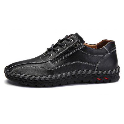 Men Stylish Soft Business Driving Oxford ShoesMen's Oxford<br>Men Stylish Soft Business Driving Oxford Shoes<br><br>Closure Type: Lace-Up, Zip<br>Contents: 1 x Pair of Shoes, 1 x Box<br>Decoration: Zippers<br>Function: Slip Resistant<br>Materials: Leather, Rubber<br>Occasion: Shopping, Tea Party, Party, Office, Holiday, Formal, Casual, Dress, Daily<br>Outsole Material: Rubber<br>Package Size ( L x W x H ): 30.00 x 20.00 x 10.00 cm / 11.81 x 7.87 x 3.94 inches<br>Package weight: 0.8500 kg<br>Pattern Type: Solid<br>Product weight: 0.8000 kg<br>Seasons: Autumn,Spring<br>Style: Modern, Business, Casual, Comfortable, Fashion, Formal, Leisure<br>Toe Shape: Round Toe<br>Type: Casual Leather Shoes<br>Upper Material: Leather