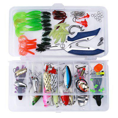 101pcs Bionic Fishing Lure Tackle Minnow Soft Hard Bait