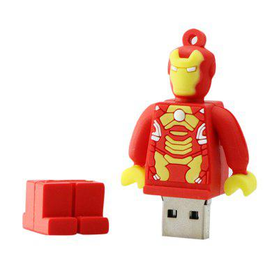 Robot Shape USB2.0 Flash Drive U Disk