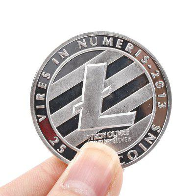 Collectible Souvenir Iron Litecoin with Protective Case