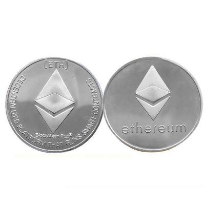 Souvenir Iron Ethereum Coin with Protective Case