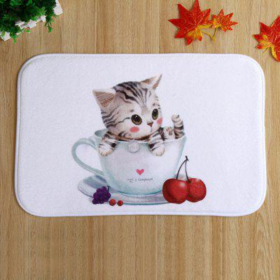 Tapete Absorbent Polyester Floor Cute Cat Style Carpet