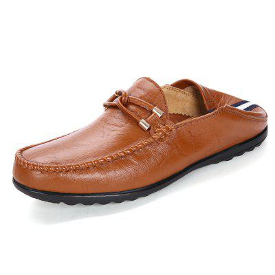 Men Business Soft Driving Flat LoafersFlats &amp; Loafers<br>Men Business Soft Driving Flat Loafers<br><br>Closure Type: Slip-On<br>Contents: 1 x Pair of Shoes, 1 x Box<br>Function: Slip Resistant<br>Materials: Rubber, Leather<br>Occasion: Tea Party, Shopping, Office, Holiday, Formal, Party, Casual, Daily, Dress<br>Outsole Material: Rubber<br>Package Size ( L x W x H ): 31.00 x 21.00 x 12.00 cm / 12.2 x 8.27 x 4.72 inches<br>Package weight: 0.8000 kg<br>Pattern Type: Solid<br>Product weight: 0.6500 kg<br>Seasons: Autumn,Spring<br>Style: Modern, Leisure, Formal, Fashion, Comfortable, Casual, Business<br>Toe Shape: Round Toe<br>Type: Flat Shoes<br>Upper Material: Leather