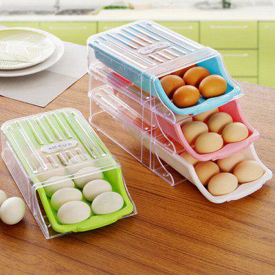 HESSION Stackable Egg Fridge Storage Drawer Box 1pc