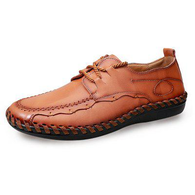 Men Business Soft Stitching Driving Oxford Shoes