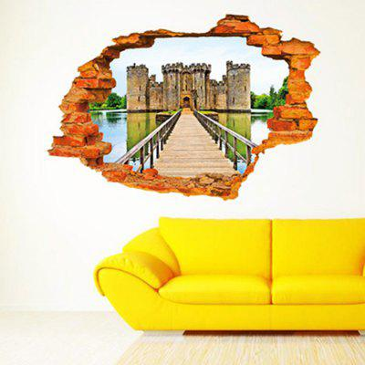 PVC Wall Sticker 3D Old Castle Style Mural DecalWall Stickers<br>PVC Wall Sticker 3D Old Castle Style Mural Decal<br><br>Function: 3D Effect<br>Material: Vinyl(PVC)<br>Package Contents: 1 x Wall Sticker<br>Package size (L x W x H): 62.00 x 5.00 x 5.00 cm / 24.41 x 1.97 x 1.97 inches<br>Package weight: 0.0260 kg<br>Product size (L x W x H): 60.00 x 90.00 x 0.50 cm / 23.62 x 35.43 x 0.2 inches<br>Product weight: 0.0160 kg<br>Quantity: 1<br>Subjects: 3D<br>Suitable Space: Bedroom,Hotel,Living Room,Office<br>Type: 3D Wall Sticker
