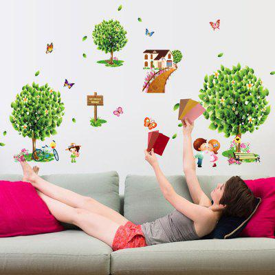 AY7272 Pastoral Tree Wall StickerWall Stickers<br>AY7272 Pastoral Tree Wall Sticker<br><br>Function: Decorative Wall Sticker<br>Material: Vinyl(PVC)<br>Package Contents: 1 x Wall Sticker<br>Package size (L x W x H): 51.00 x 4.50 x 4.50 cm / 20.08 x 1.77 x 1.77 inches<br>Package weight: 0.4000 kg<br>Product size (L x W x H): 70.00 x 50.00 x 0.10 cm / 27.56 x 19.69 x 0.04 inches<br>Product weight: 0.3500 kg<br>Quantity: 1<br>Subjects: Botanical<br>Suitable Space: Bathroom,Bedroom,Kids Room,Living Room<br>Type: Plane Wall Sticker