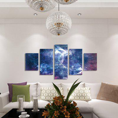 God Painting 2216 Dreamlike Star Sky Canvas Print 5PCSPrints<br>God Painting 2216 Dreamlike Star Sky Canvas Print 5PCS<br><br>Brand: God Painting<br>Craft: Print<br>Form: Five Panels<br>Material: Canvas<br>Package Contents: 5 x Print<br>Package size (L x W x H): 42.00 x 6.00 x 6.00 cm / 16.54 x 2.36 x 2.36 inches<br>Package weight: 0.4000 kg<br>Painting: Without Inner Frame<br>Product weight: 0.3600 kg<br>Shape: Vertical<br>Style: Modern<br>Subjects: Fantasy<br>Suitable Space: Bathroom,Bedroom,Living Room,Pathway