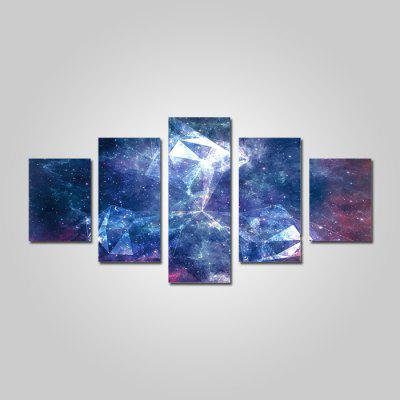 God Painting 2216 Dreamlike Star Sky Canvas Print 5PCS
