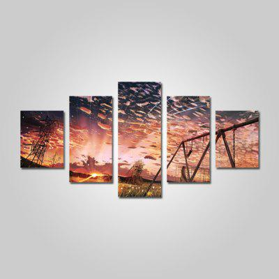 God Painting 2205 Beautiful Sky Canvas Print 5PCS