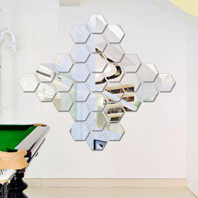 Acrylic Mirror Wall Sticker Set Hexagon Shape Mural DecalsWall Stickers<br>Acrylic Mirror Wall Sticker Set Hexagon Shape Mural Decals<br><br>Function: 3D Effect<br>Material: Acrylic<br>Package Contents: 1 x Set of Wall Stickers<br>Package size (L x W x H): 25.00 x 28.00 x 10.00 cm / 9.84 x 11.02 x 3.94 inches<br>Package weight: 0.1450 kg<br>Product weight: 0.1250 kg<br>Quantity: 1 Set<br>Subjects: 3D,Mirror<br>Suitable Space: Bedroom,Dining Room,Hotel,Living Room,Office<br>Type: Mirror Wall Sticker, 3D Wall Sticker