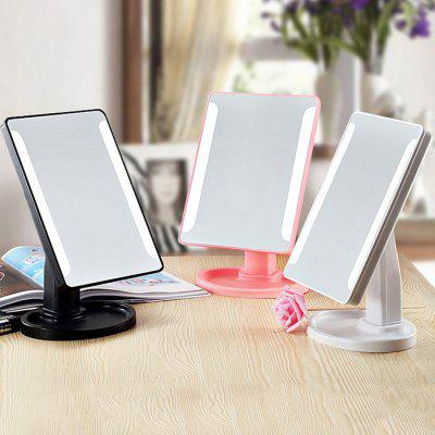 LED Smart Touch Makeup MirrorDecorative Lights<br>LED Smart Touch Makeup Mirror<br><br>Material: ABS, Glass<br>Package Contents: 1 x Makeup Mirror, 1 x USB Cable<br>Package size (L x W x H): 24.00 x 19.00 x 14.00 cm / 9.45 x 7.48 x 5.51 inches<br>Package weight: 0.7000 kg<br>Product size (L x W x H): 17.00 x 15.00 x 27.00 cm / 6.69 x 5.91 x 10.63 inches<br>Product weight: 0.6500 kg