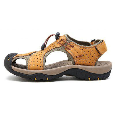Men Trendy Comfortable Anti-slip Leather SandalsMens Sandals<br>Men Trendy Comfortable Anti-slip Leather Sandals<br><br>Closure Type: Hook / Loop, Elastic band<br>Contents: 1 x Pair of Shoes, 1 x Box<br>Function: Slip Resistant<br>Materials: Leather, Rubber<br>Occasion: Casual, Daily, Shopping, Beach<br>Outsole Material: Rubber<br>Package Size ( L x W x H ): 33.00 x 24.00 x 13.00 cm / 12.99 x 9.45 x 5.12 inches<br>Package weight: 0.8000 kg<br>Product weight: 0.6000 kg<br>Seasons: Summer<br>Style: Leisure, Fashion, Comfortable<br>Type: Sandals<br>Upper Material: Leather