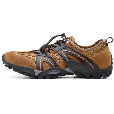 Men Outdoor Anti-slip Breathable Crash Toe SneakersMen's Sneakers<br>Men Outdoor Anti-slip Breathable Crash Toe Sneakers<br><br>Closure Type: Elastic band<br>Contents: 1 x Pair of Shoes, 1 x Box<br>Function: Slip Resistant<br>Materials: Rubber, Leather, Mesh Fabric<br>Occasion: Shopping, Sports, Running, Riding, Daily, Casual<br>Outsole Material: Rubber<br>Package Size ( L x W x H ): 31.00 x 21.00 x 13.00 cm / 12.2 x 8.27 x 5.12 inches<br>Package weight: 0.8300 kg<br>Product weight: 0.6800 kg<br>Seasons: Summer<br>Style: Fashion, Comfortable, Casual<br>Toe Shape: Round Toe<br>Type: Sports Shoes<br>Upper Material: Leather,Mesh Fabric