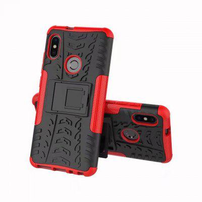 Phone Case with Holder for Xiaomi Redmi Note 5 Pro metal ring holder combo phone bag luxury shockproof case for samsung galaxy note 8