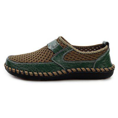 Men Vintage Soft Cool Manual Casual Flat LoafersFlats &amp; Loafers<br>Men Vintage Soft Cool Manual Casual Flat Loafers<br><br>Closure Type: Slip-On<br>Contents: 1 x Pair of Shoes, 1 x Box, 1 x Dustproof Paper<br>Function: Slip Resistant<br>Materials: Mesh, Rubber, Leather<br>Occasion: Tea Party, Shopping, Outdoor Clothing, Office, Casual, Party, Daily, Holiday<br>Outsole Material: Rubber<br>Package Size ( L x W x H ): 33.00 x 24.00 x 13.00 cm / 12.99 x 9.45 x 5.12 inches<br>Package weight: 0.8060 kg<br>Product weight: 0.5000 kg<br>Seasons: Autumn,Spring,Summer<br>Style: Modern, Leisure, Fashion, Comfortable, Casual<br>Toe Shape: Round Toe<br>Type: Flat Shoes<br>Upper Material: Leather,Mesh