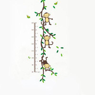 PVC Height Wall Sticker Monkey Style Mural DecalWall Stickers<br>PVC Height Wall Sticker Monkey Style Mural Decal<br><br>Function: Height Sticker<br>Material: Vinyl(PVC)<br>Package Contents: 1 x Height Sticker<br>Package size (L x W x H): 47.00 x 5.00 x 5.00 cm / 18.5 x 1.97 x 1.97 inches<br>Package weight: 0.0260 kg<br>Product size (L x W x H): 45.00 x 60.00 x 0.50 cm / 17.72 x 23.62 x 0.2 inches<br>Product weight: 0.0160 kg<br>Quantity: 1<br>Subjects: Cartoon<br>Suitable Space: Bedroom,Girls Room,Kids Room,Living Room<br>Type: Plane Wall Sticker