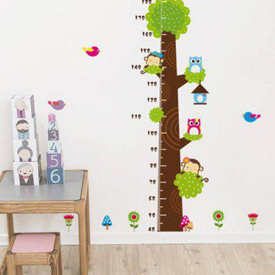 PVC Height Wall Sticker Animals Style Mural DecalWall Stickers<br>PVC Height Wall Sticker Animals Style Mural Decal<br><br>Function: Height Sticker<br>Material: Vinyl(PVC)<br>Package Contents: 1 x Height Sticker<br>Package size (L x W x H): 62.00 x 5.00 x 5.00 cm / 24.41 x 1.97 x 1.97 inches<br>Package weight: 0.0167 kg<br>Product size (L x W x H): 60.00 x 90.00 x 0.50 cm / 23.62 x 35.43 x 0.2 inches<br>Product weight: 0.0160 kg<br>Quantity: 1<br>Subjects: Animal,Cartoon<br>Suitable Space: Bedroom,Boys Room,Girls Room,Kids Room,Living Room<br>Type: Plane Wall Sticker