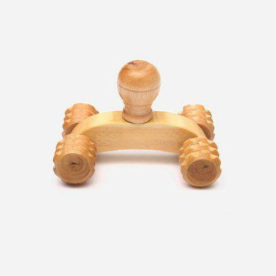 Wood Four-wheeled Full Body Rolling Massager