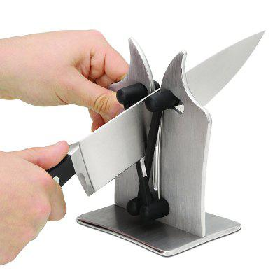 gocomma Professional Kitchen Knife Sharpener - SILVER