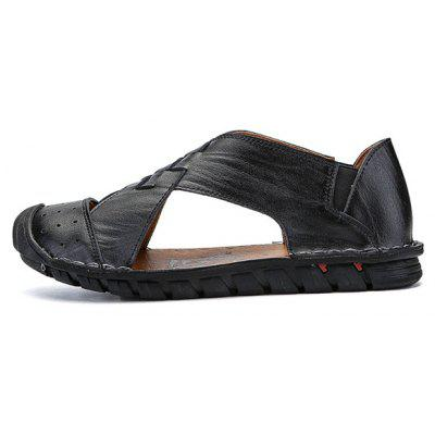 Men Classic Soft Hollow Casual Leather SandalsMens Sandals<br>Men Classic Soft Hollow Casual Leather Sandals<br><br>Closure Type: Slip-On<br>Contents: 1 x Pair of Shoes, 1 x Box<br>Decoration: Hollow Out<br>Function: Slip Resistant<br>Materials: Rubber, Leather<br>Occasion: Tea Party, Shopping, Rainy Day, Party, Outdoor Clothing, Office, Holiday, Daily, Beach, Casual<br>Outsole Material: Rubber<br>Package Size ( L x W x H ): 30.00 x 18.00 x 10.00 cm / 11.81 x 7.09 x 3.94 inches<br>Package weight: 0.8500 kg<br>Pattern Type: Solid<br>Product weight: 0.7000 kg<br>Seasons: Spring,Summer<br>Style: Modern, Leisure, Fashion, Comfortable, Casual<br>Toe Shape: Round Toe<br>Type: Sandals<br>Upper Material: Leather