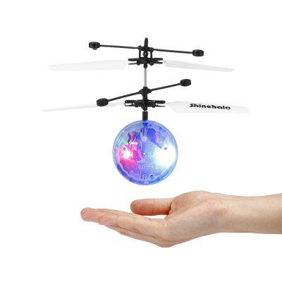 Shinehalo Remote Control LED Crystal RC Ball Helicopter - WHITE