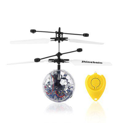 Shinehalo Remote Control LED Crystal RC Ball HelicopterNovelty Toys<br>Shinehalo Remote Control LED Crystal RC Ball Helicopter<br><br>Brand: Shinehalo<br>Features: Electronic<br>Materials: ABS<br>Package Contents: 1 x Induction Ball Toy, 1 x Remote Control, 1 x Pair of Propellers, 1 x USB Cable<br>Package size: 18.00 x 16.50 x 7.00 cm / 7.09 x 6.5 x 2.76 inches<br>Package weight: 0.1250 kg<br>Product size: 16.00 x 16.00 x 11.00 cm / 6.3 x 6.3 x 4.33 inches<br>Product weight: 0.0270 kg<br>Series: Entertainment<br>Theme: Other