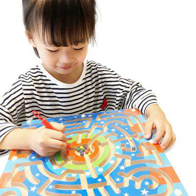Maze Puzzle Magnetic Board Game Educational Toys for Kid - MULTI-A