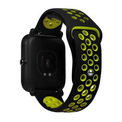 20mm Silicone Watch Band Strap for HUAMI Amazfit Youth Ed.Smart Watch Accessories<br>20mm Silicone Watch Band Strap for HUAMI Amazfit Youth Ed.<br><br>Package Contents: 1 x Strap<br>Package size: 8.50 x 16.00 x 0.20 cm / 3.35 x 6.3 x 0.08 inches<br>Package weight: 0.0160 kg<br>Product size: 23.00 x 2.00 x 0.20 cm / 9.06 x 0.79 x 0.08 inches<br>Product weight: 0.0150 kg<br>Type: Strap