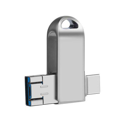 Buy WEITASI UV T04 3-in-1 Type-C / Micro USB / USB 3.0 U Disk, SILVER, 32GB, Computers & Networking, Computer Peripherals, USB Flash Drives for $21.98 in GearBest store