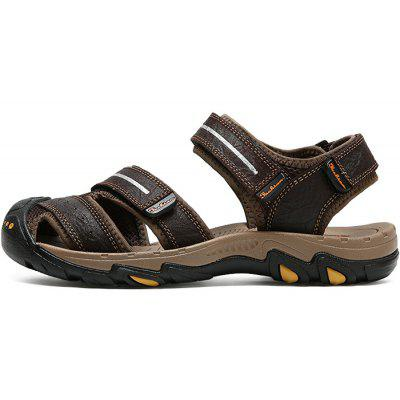 Casual Summer Anti-slip Leather Sandals for MenMens Sandals<br>Casual Summer Anti-slip Leather Sandals for Men<br><br>Closure Type: Hook / Loop<br>Contents: 1 x Pair of Shoes, 1 x Box<br>Function: Slip Resistant<br>Materials: Leather, Rubber<br>Occasion: Beach, Shopping, Holiday, Daily, Casual<br>Outsole Material: Rubber<br>Package Size ( L x W x H ): 32.00 x 21.00 x 13.00 cm / 12.6 x 8.27 x 5.12 inches<br>Package weight: 0.8200 kg<br>Product weight: 0.6800 kg<br>Seasons: Summer<br>Style: Leisure, Fashion, Comfortable<br>Type: Sandals<br>Upper Material: Leather